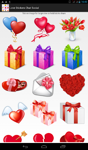 Love Stickers Chat Social