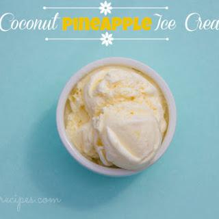 Creamy Coconut Pineapple Ice Cream