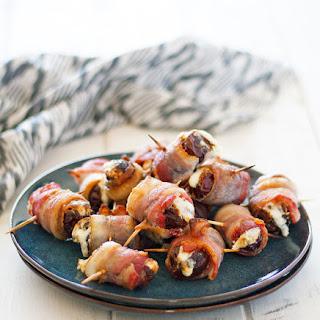 Burrata Stuffed Bacon Wrapped Dates