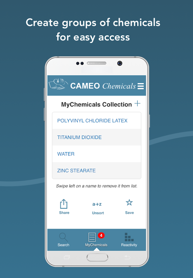 CAMEO Chemicals- screenshot