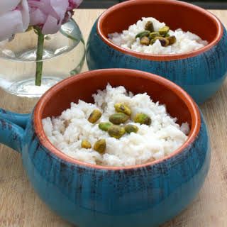 Cardamom Rose Rice Pudding.