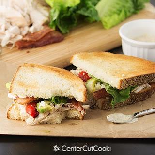 Chicken, Bacon & Blue Cheese Sandwiches.