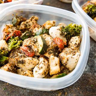 Italian Chicken Meal Prep Bowls.