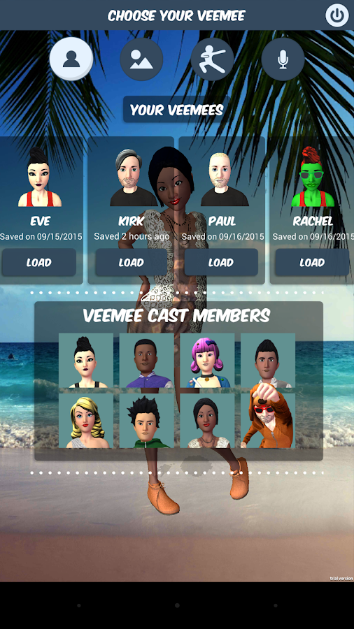 Veemee Avatar Video Messaging- screenshot