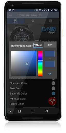 Titanium Brave HD WatchFace Widget Live Wallpaper 4.8.1 screenshots 5