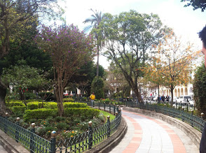Photo: Nice parks abound in many town squares.
