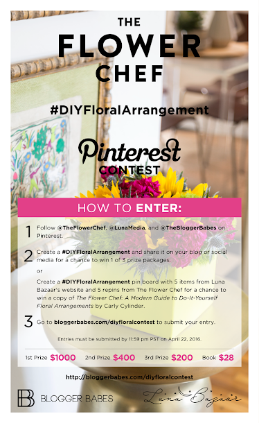The Flower Chef #DIYFloralArrangement Pinterest Contest Info