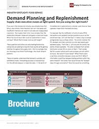 foodservice industry planning