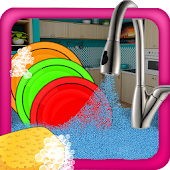 Girls Dish Washing - Cleanup