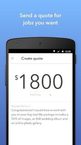 android Thumbtack for Professionals Screenshot 2