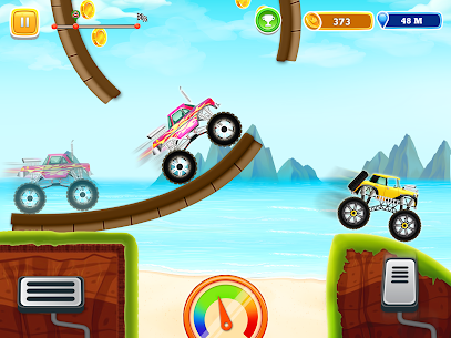 Kids Monster Truck Uphill Racing Game 0.5 Android APK Mod 2