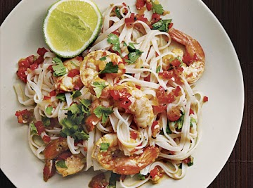 Rice Noodles With Shrimp And Cilantro Recipe