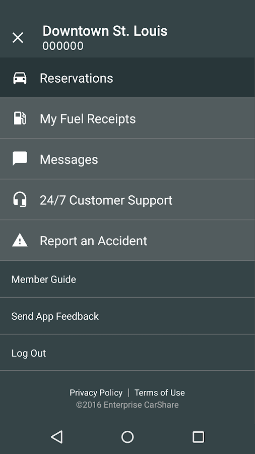 Enterprise CarShare- screenshot