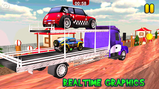 Multi Truck Euro Car Transporter Game 2018 Free 1.0 screenshots 6
