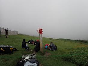 蓬莱山山頂標識