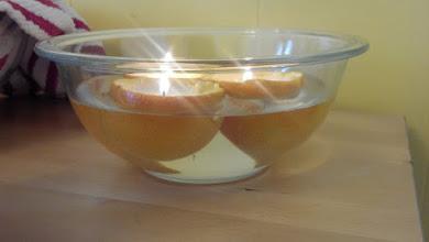 Photo: orange candles - yep, we made them! :-)