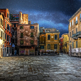 A Plaza in Venice by William Kauffman - Buildings & Architecture Other Exteriors ( plaza, square, venice, history, italy )