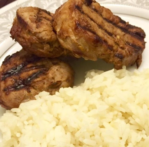 Refrigerate pork in marinade 2-3 hours. After marinating an hour. flip bag over to...