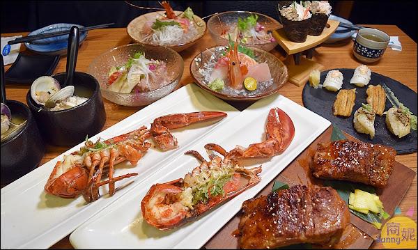 台中必吃日本料理。桀壽司。活體龍蝦海陸套餐加碼安格斯牛小排握壽司買一送一只要千元CP值超高!
