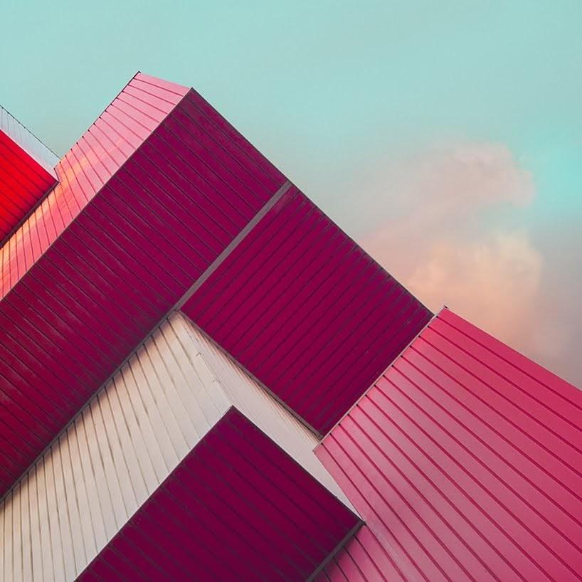 Cuadros arquitectónicos únicos por Oystein Aspelund.