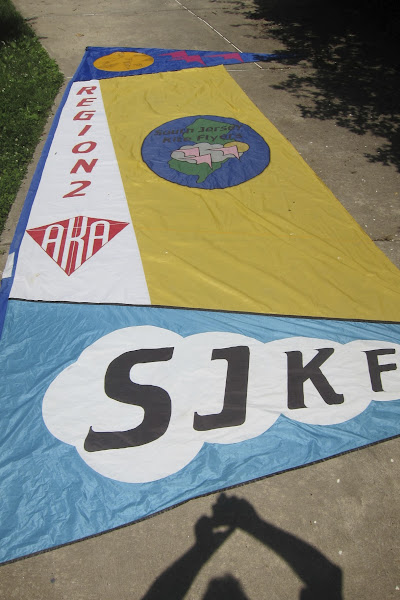 Photo: SJKF Mother Banner - after many years of flying - in need of mending.