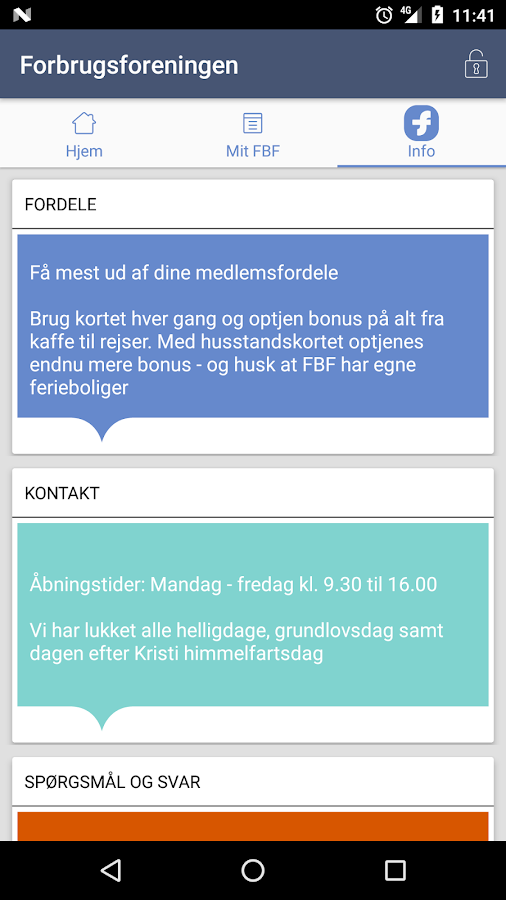 Forbrugsforeningen- screenshot
