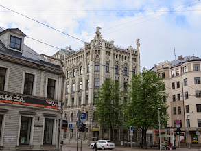 """Photo: Art Nouveau building, also called """"Jugendstil,"""" meaning """"Youth Style"""""""