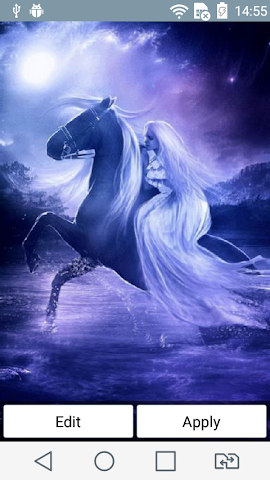 android Nice horsewoman live wallpaper Screenshot 0