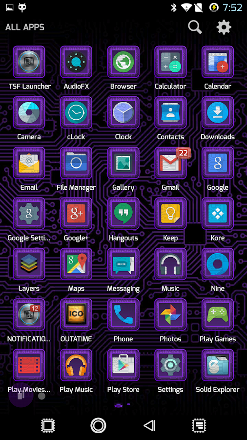 PCB Purple ⁞ TSF Shell 3 Theme- screenshot
