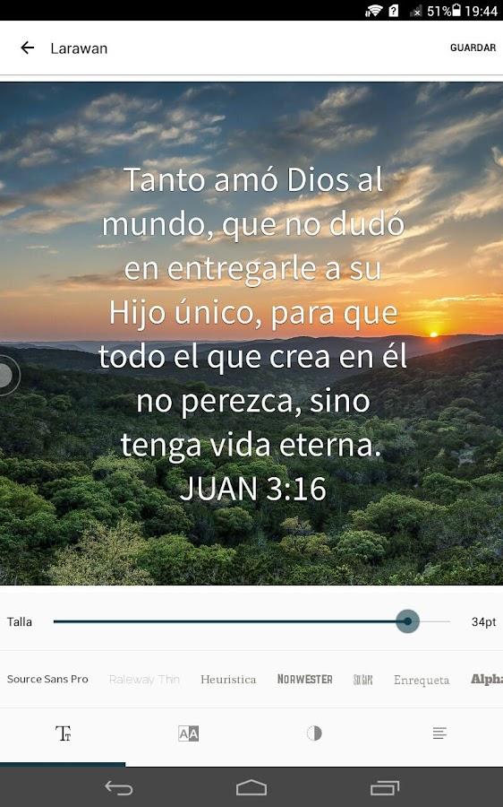 Biblia: captura de pantalla
