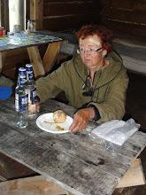 Photo: В каждой избушке оставлено полбутылки водки и закусить - луковица, огурчик.