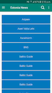 Estonia Newspapers App   Estonia News - náhled