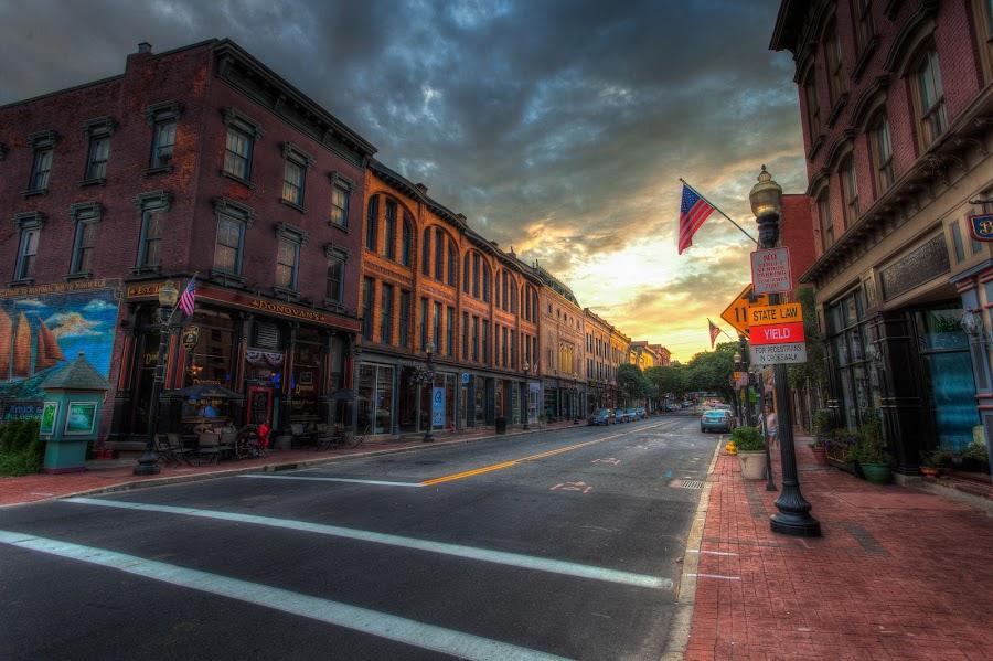 Sono by Jeff Klein - City,  Street & Park  Historic Districts ( clouds, norwalk, street, sono, landscape, city )