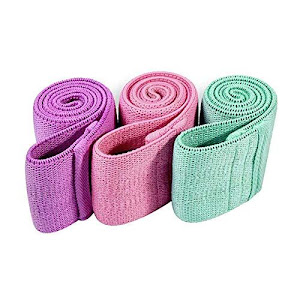 Set 3 benzi elastice din material, 3 niveluri de rezistenta, saculet inclus