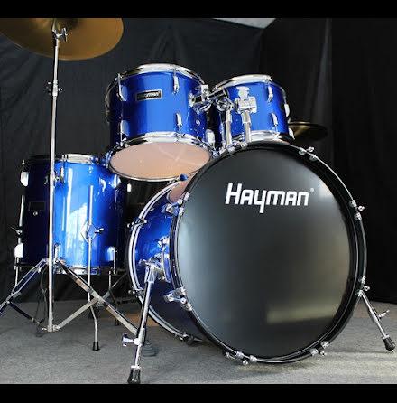 Hayman HM-350-MU - Komplett Nybörjartrumset - Metallic Blue