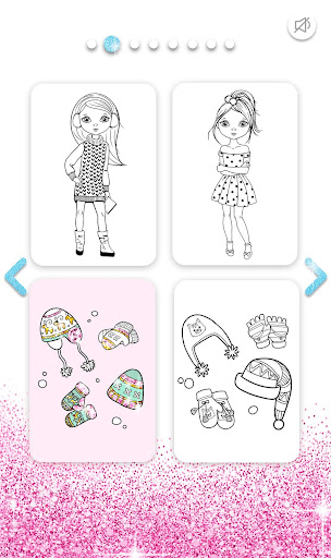 Girls Coloring Book for Kids Glitter apkpoly screenshots 2