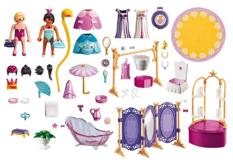 Contenido de Playmobil® 6850 Vestidor de Princesas
