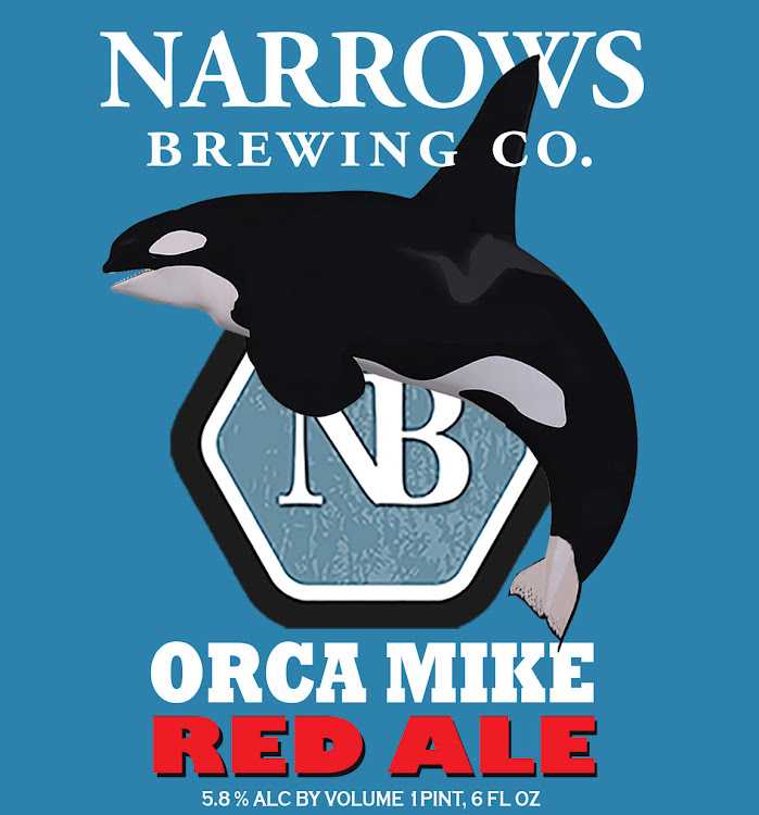 Logo of Narrows Orca Mike Red