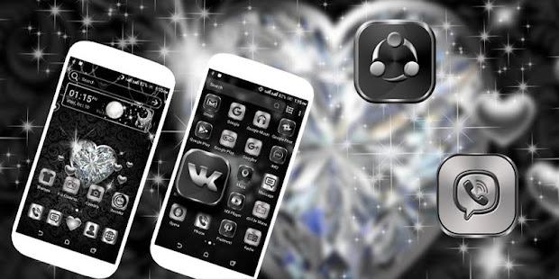 Diamond Heart Launcher Theme - náhled