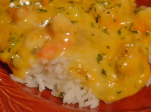 Cheesy Shrimp Over Rice