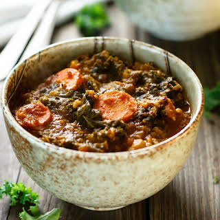 One Pot Kale and Quinoa Soup.