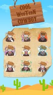 Cool Western Cowboy Emoji Sticker - náhled