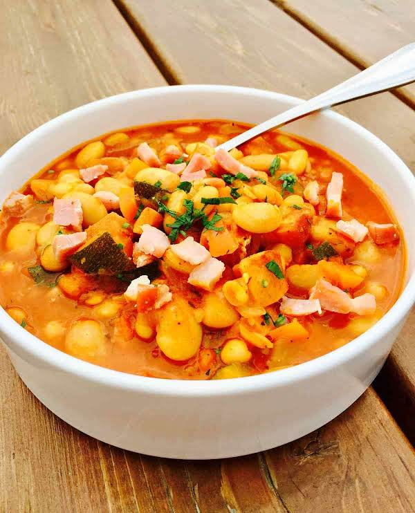"""Nothing Says """"comfort"""" To Me Like A Big Pot Of Steamy Cannellini And Butter Bean Soup, Simmering On The Stove."""