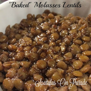Baked Molasses Lentils