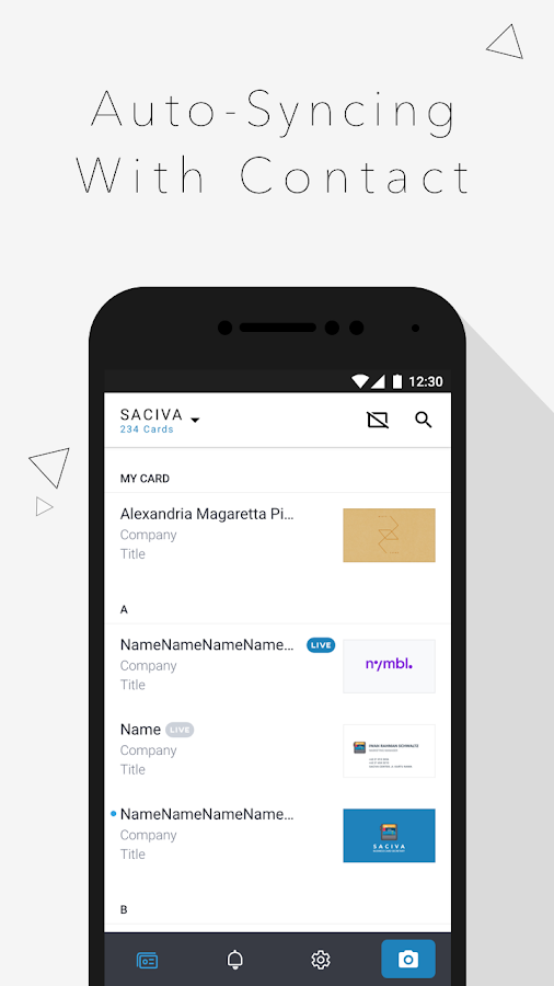Saciva - Bizcard Secretary- screenshot