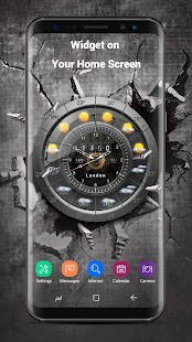 Weather and Analog Clock Widget - náhled