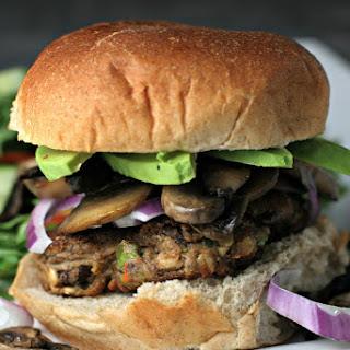 Mushroom Avocado BUBBA Veggie Burgers