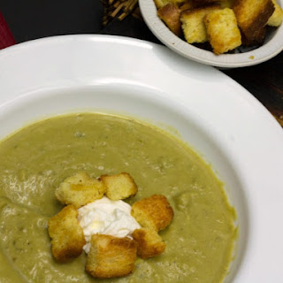 Split Peas Soup with Spicy Croutons.