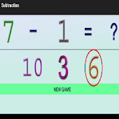 6 year of edu subtraction game