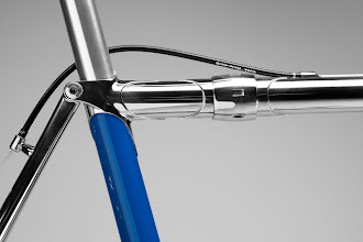 Photo: Stainless couplers blend seamlessly into the stainless KVA top tube.